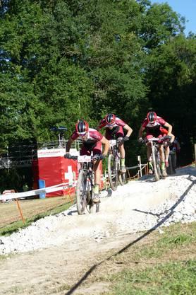 Das Bike Team Solothurn , geschlossen an der Spitze
