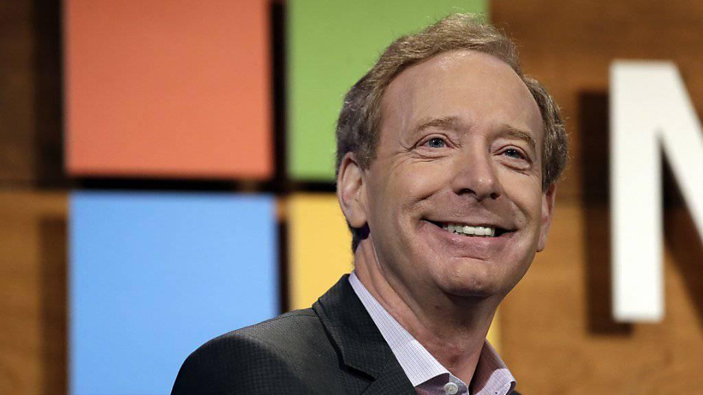 Happy über den jüngsten Gerichtsentscheid zur Datensicherheit: Microsofts Chef der Rechtsabteilung, Brad Smith. (Archivbild)