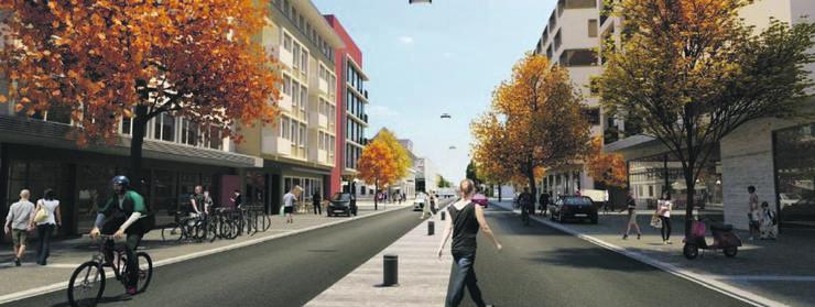 Ähnlic wie auf dieser Visualisierung einer Testplanung im Zentrum Wettingen stellt man sich bei der Stadt Dietikon den Boulevard im Zentrum vor.
