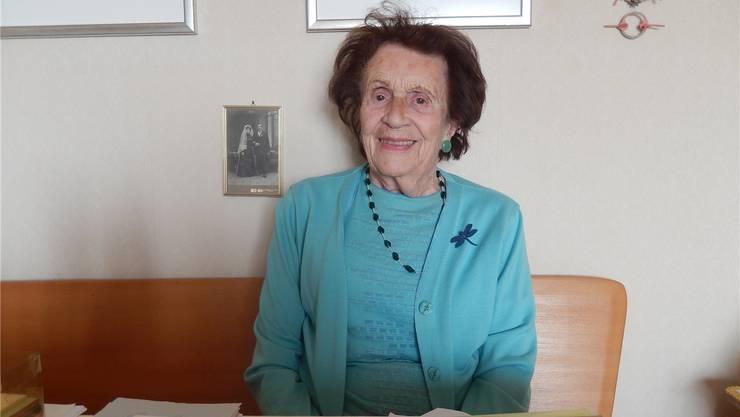 Elisabeth Pfluger ist auch mit 97 Jahren immer noch vital. frb