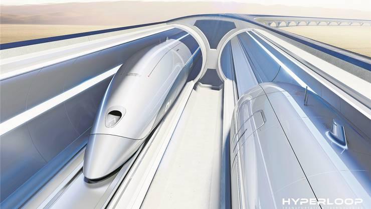 Die Idee des Hyperloops lehnt sich am Schweizer Projekt Swiss Metro aus den 90er-Jahren an. HO