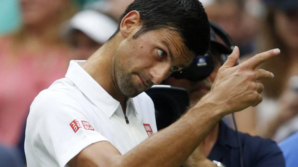 In New York noch nicht übermässig gefordert: Novak Djokovic profitierte am US Open gleich zweimal von Verletzungen seiner Gegner