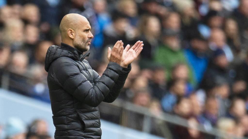 Pep Guardiola durfte seinen Spielern nach der Pause doch noch applaudieren.