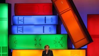Bundeskanzlerin Angela Merkel - hier 2009 bei der Eröffnung der Frankfurter Buchmesse - hat vier Tage vor Beginn der Buchmesse Leipzig einen Appell zur Leseförderung gestartet.