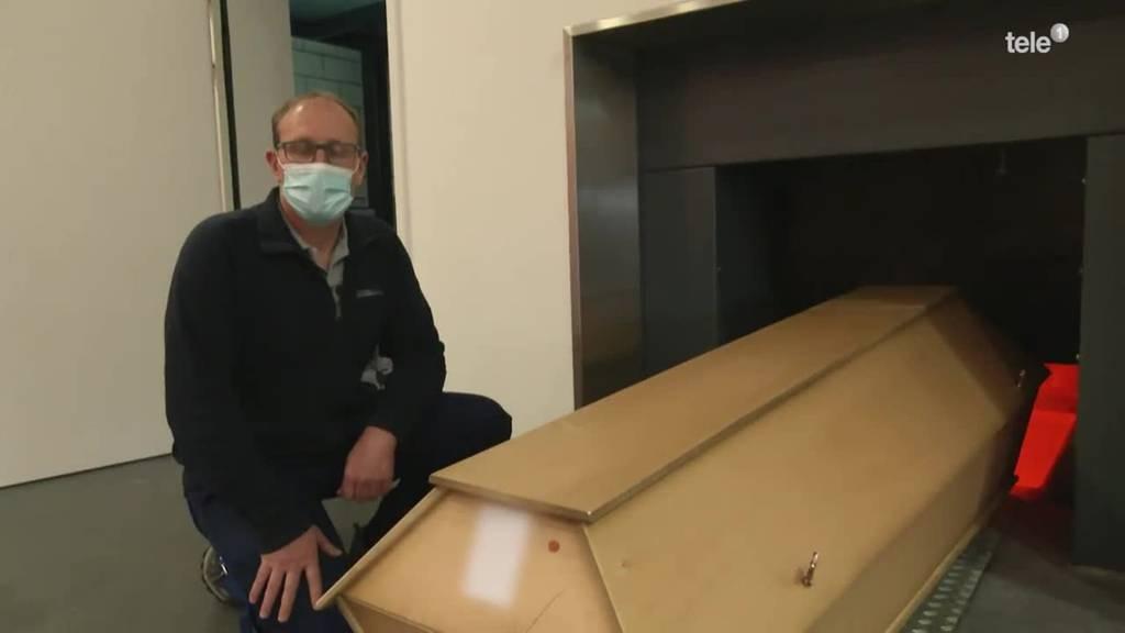 Ofen im Luzerner Krematorium läuft auf Hochtouren