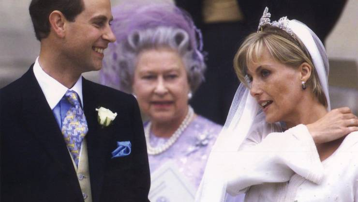 Genau 20 Jahre ist es her, dass der britische Prinz Edward seine Sophie geheiratet hat. Von den vier Kindern der Queen ist er der Einzige, dessen erste Ehe gehalten hat. (Archivbild)