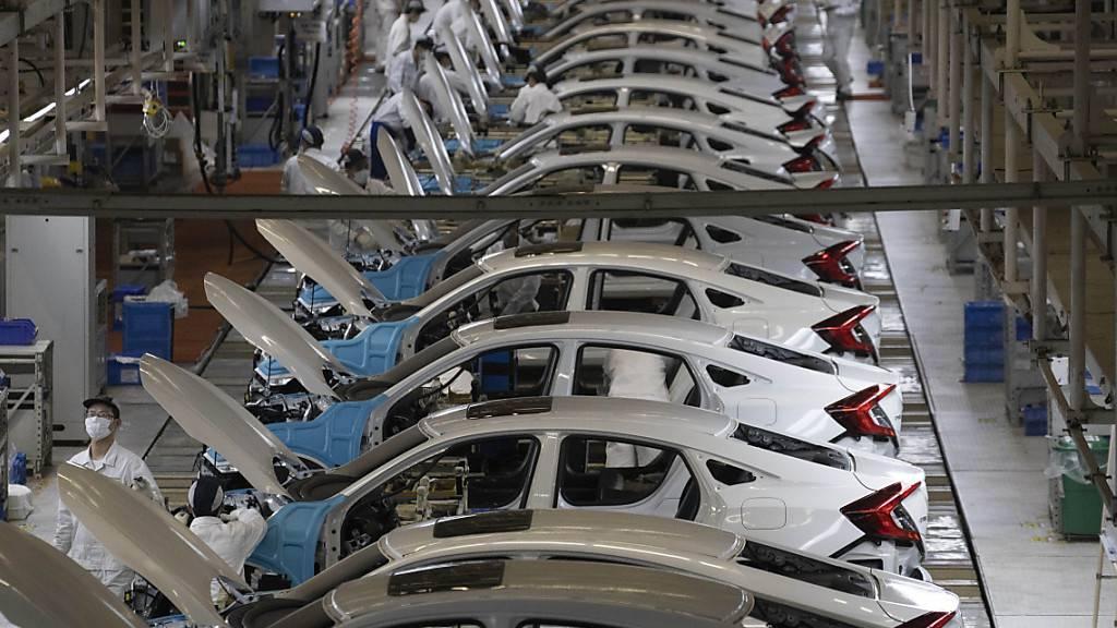 Zahl der Autoverkäufe in China steigen weiter