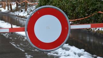 Die Verbindungsstrasse Rupperswil-Auenstein wird gesperrt. (Symbolbild)