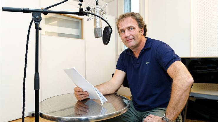 Alex Capus im Tonstudio.