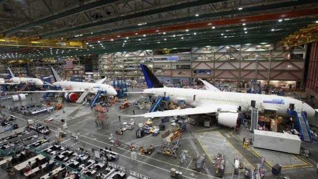 Produktionshalle für Boeing-787-Maschinen in Everett (Archiv)