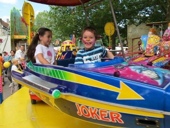 Der Lunapark fasziniert immer wieder die Kinder