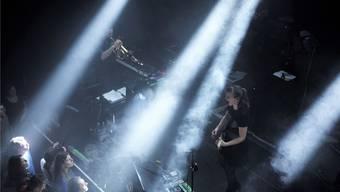 Der magische Moment im Januar 2016 am Konzert im Nordportal Baden: Alexis Anérilles mit dem Flügelhorn von Inderbinen und Sophie Hunger.Tommy Inderbinen