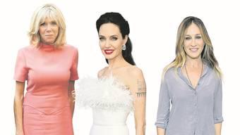 Brigitte Macron, 66, Angelina Jolie, 44 und Sarah Jessica Parker, 54.