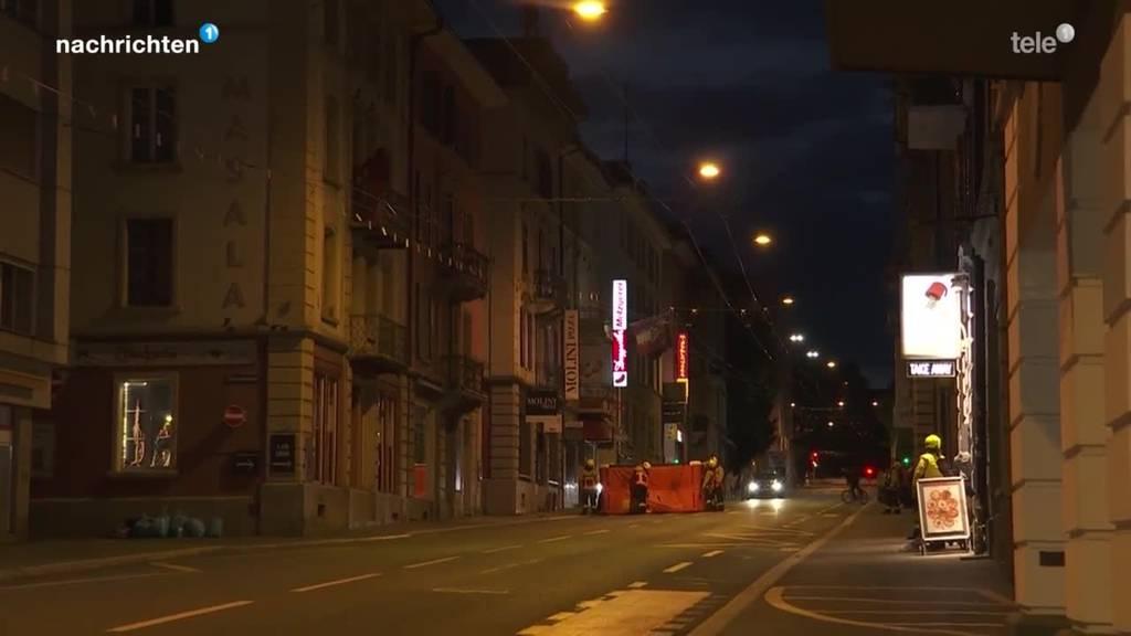 Luzern: Mann klettert mit Messer auf Hausdach