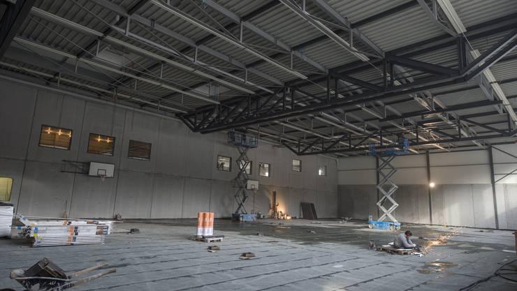 Innert einer Bauzeit von sieben Monaten ist anstelle der Gokart-Halle ein Hallensportzentrum entstanden.