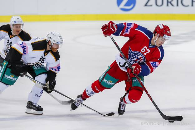 Florian Schmuckli gibt auch schon im Achtelfinale gegen den HC Lugano vollgas.