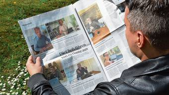 Stein des Anstosses: die Doppelseite in der «Schweiz am Wochenende» mit den Kurzporträts der CEO.