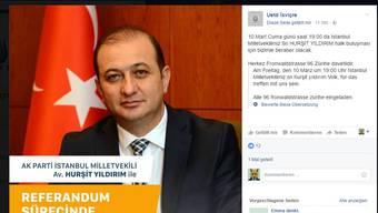 Facebookeinladung von Hursit Yildirim