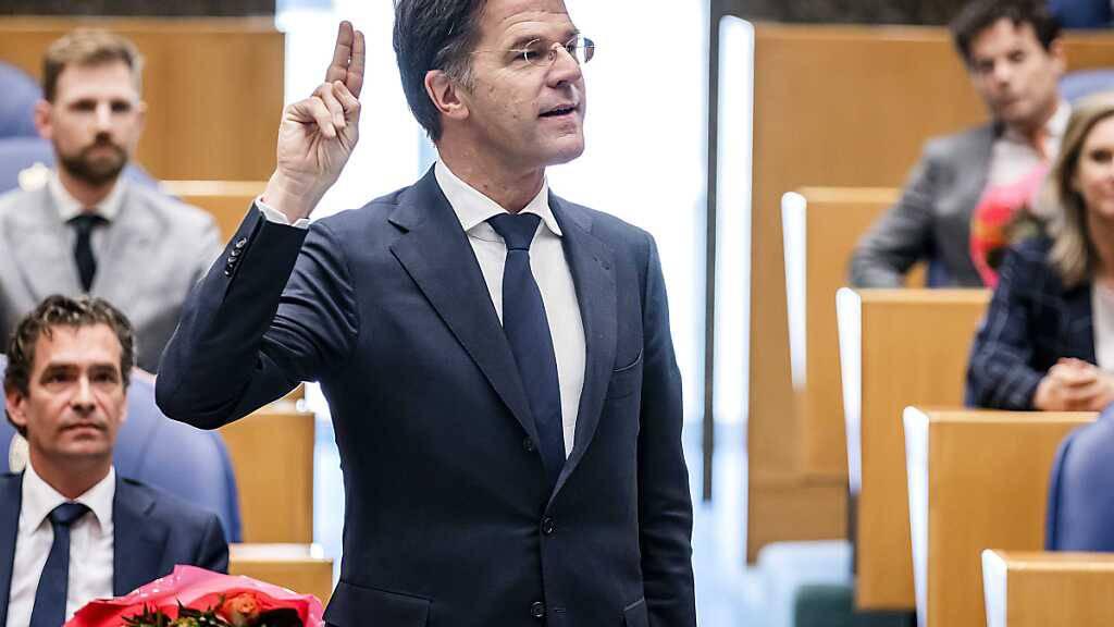 Mark Rutte, Ministerpräsident der Niederlande, bei der Amtseinführung als Mitglied des Repräsentantenhauses. Foto: Remko De Waal/ANP/dpa