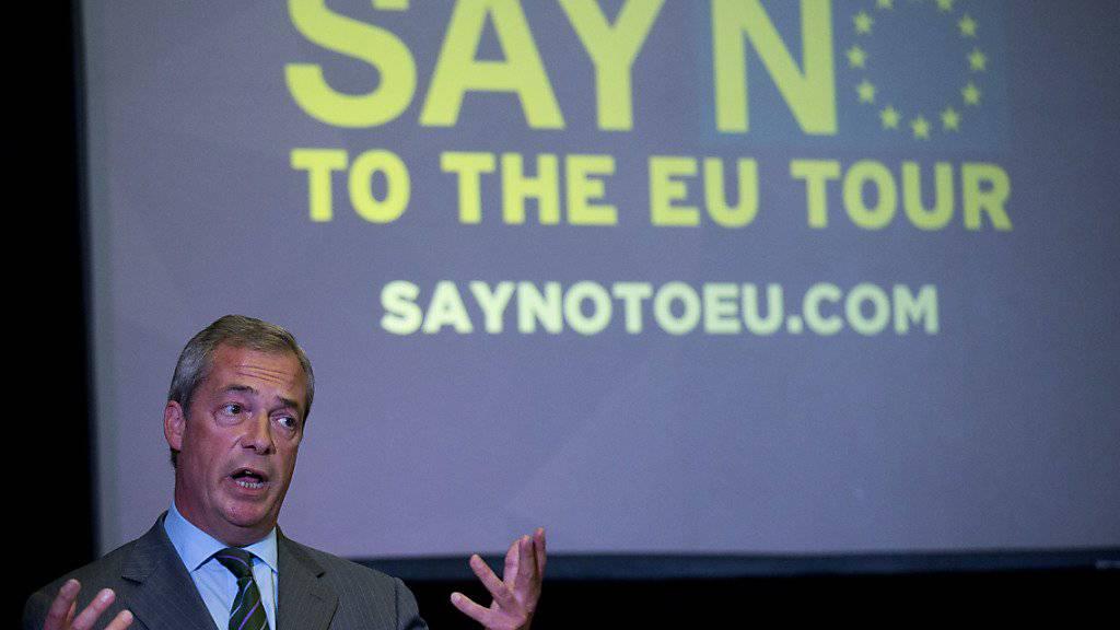 2016 sollen Britinnen und Briten über den EU-Austritt abstimmen dürfen - die Ukip um Nigel Farage hat bereits mit dem Abstimmungskampf begonnen.