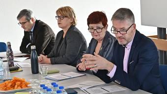 Von links: Benvenuto Savoldelli, Marion Rauber, Iris Schelbert und Thomas Marbet.