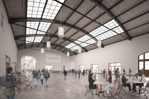 Die Halle auf Seite französischer Bahnhof soll komplett umgestaltet und «Lounge-mässig» eingerichtet werden.
