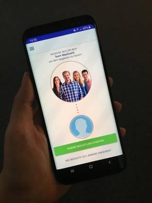 Klickt man auf den grünen Knopf, kann die App auf den Standort zugreifen, gleichzeitig kann man diesen mit Freunden teilen.