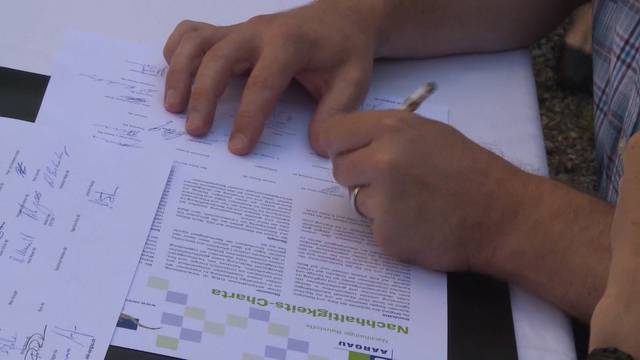Die Aargauer Kies- und Betonproduzenten unterschreiben Nachhaltigkeits-Charta – Jura Cement nicht