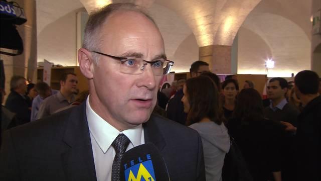 """SVP-Kandidat Hansjörg Knecht landet bei den Aargauer Ständeratswahlen auf Platz 2: """"Dieses Resultat mach mich stolz - die Differenz zu Philipp Müller ist eine gute Basis für den zweiten Wahlgang"""""""