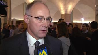 SVP-Kandidat Hansjörg Knecht landet bei den Aargauer Ständeratswahlen auf Platz 2 - seine erste Reaktion im Kurzinterview mit Tele M1.