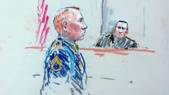 Bales vor dem Militärgericht im Bundesstaat Washington (Archiv)
