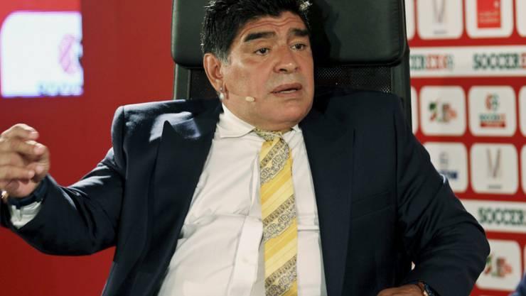 Möchte gerne bei der FIFA aufräumen: die argentinische Fussball-Legende Diego Maradona