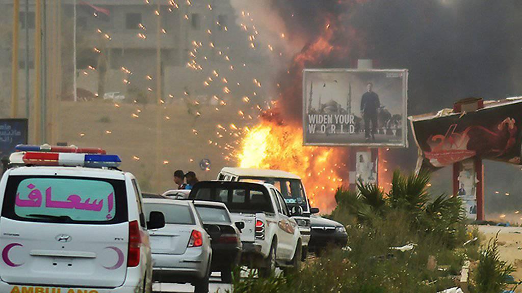 Pulverfass Bengasi: In der libyschen Stadt wurde ein Fotograf der Nachrichtenagentur AFP zum zweiten Mal vom Geheimdienst festgenommen. (Archivbild)