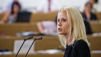 Liliane Studer im Grossen Rat. Geht es nach der EVP-Parteileitung, soll sie auch in der kleinen Kammer präsent sein.