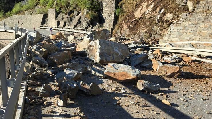 Die Aufräumarbeiten nach dem Felssturz zwischen Le Prese und Miralago dauerten weniger lange, als befürchtet.