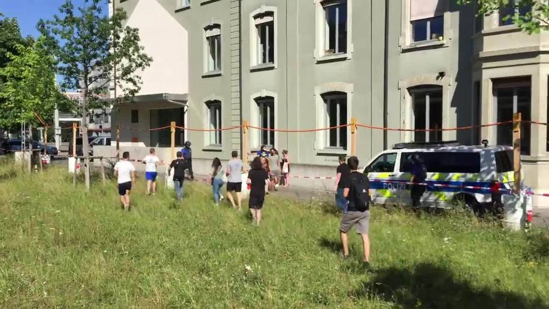 Unbewilligte Demo in Basel