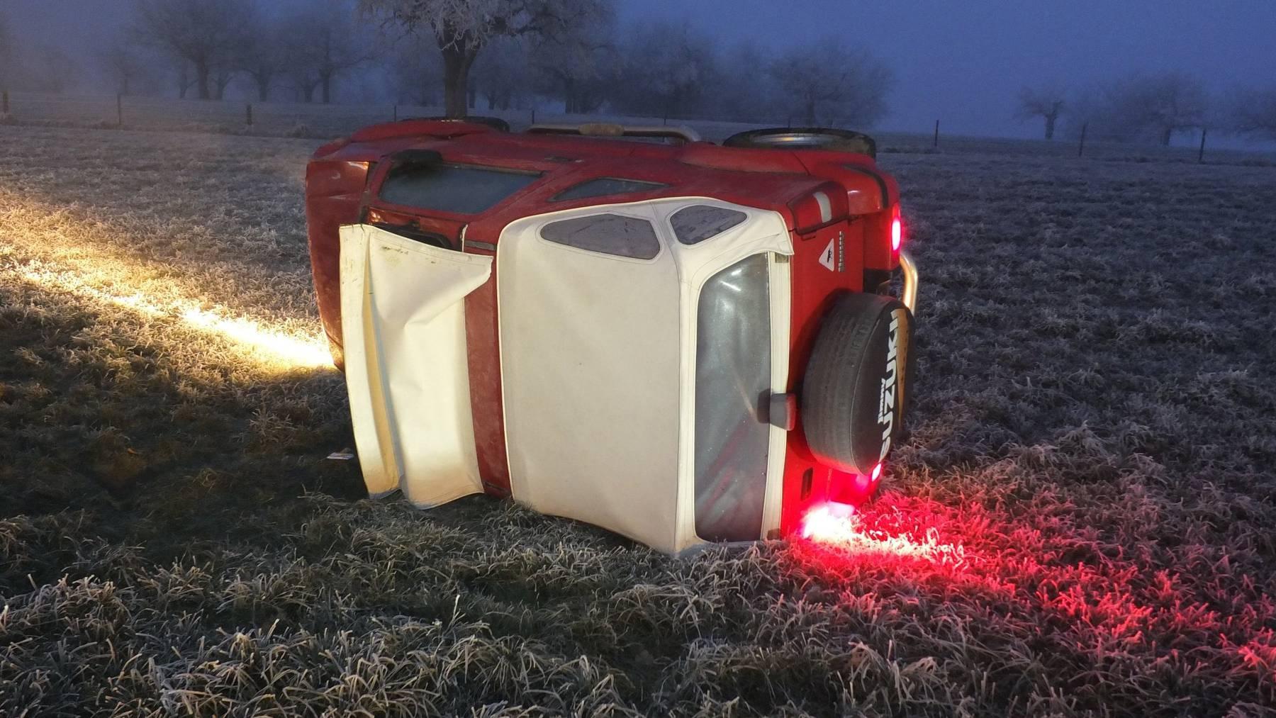 Am Auto, das sich in Wittenbach überschlug, entstand ein Sachschaden von 5000 Franken.