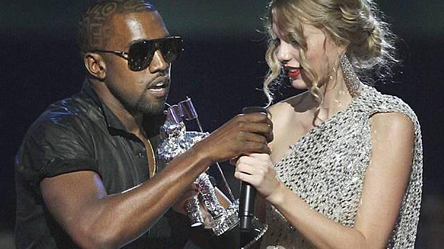 Kanye West unterbricht Taylor Swift (Archiv)