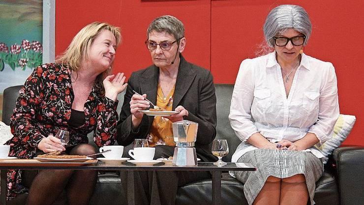 Elke Delimar (links), Susanne Moor und Nicole Spiess.
