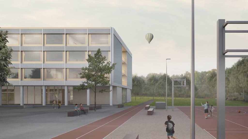 Dieses Schulhaus soll bis 2021 gebaut werden. Der Werkpreis beträgt 16,8 Millionen Franken. Dazu kommen Kosten für Photovoltaikanlage, Projektmanagement, Gebühren und eine Kostenreserve von rund 1,5 Millionen Franken.