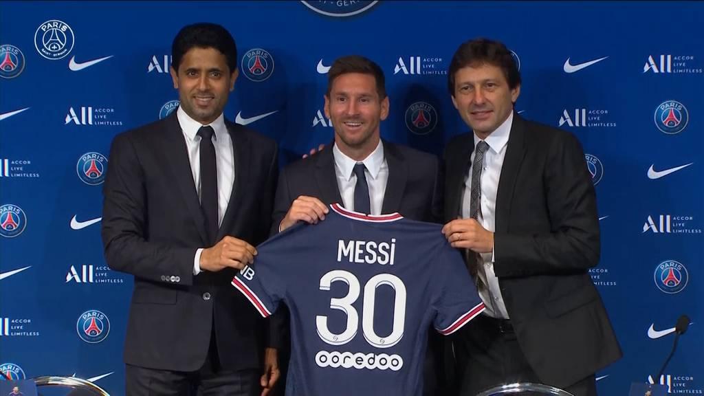 Fussball-Fest in Paris: Messi offiziell bei PSG vorgestellt