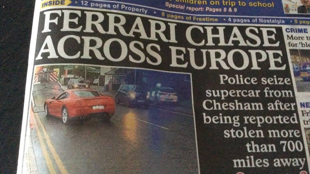 Gestohlener Ferrari taucht nach zehn Jahren in London auf