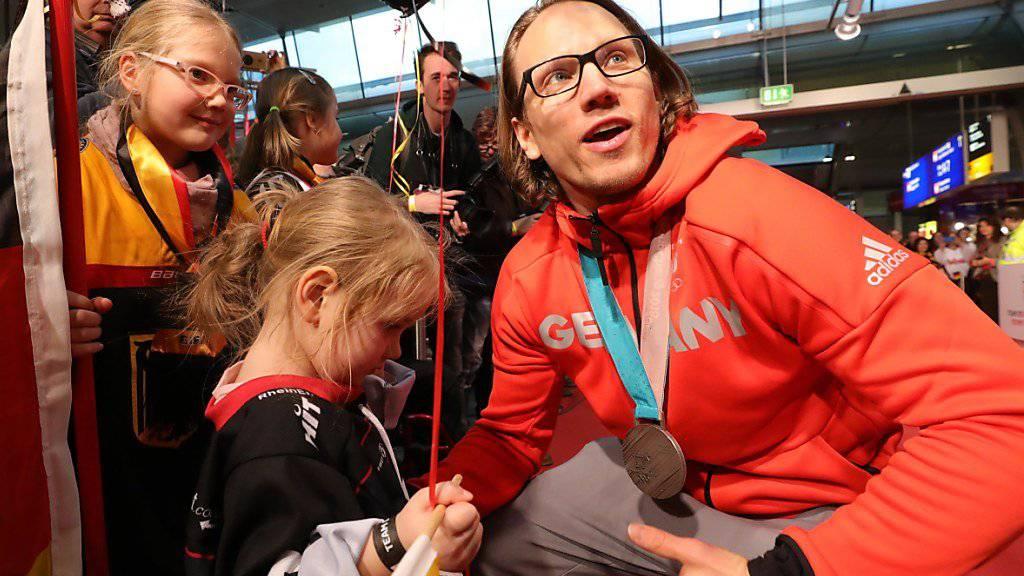 Christian Ehrhoff führte Deutschland als Captain zu Olympia-Silber.