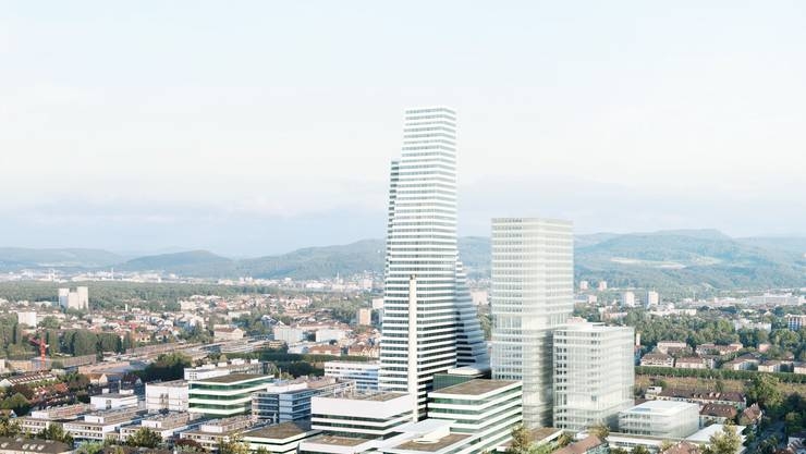 Die Pläne der Roche für die Arealentwicklung am Standort Basel.