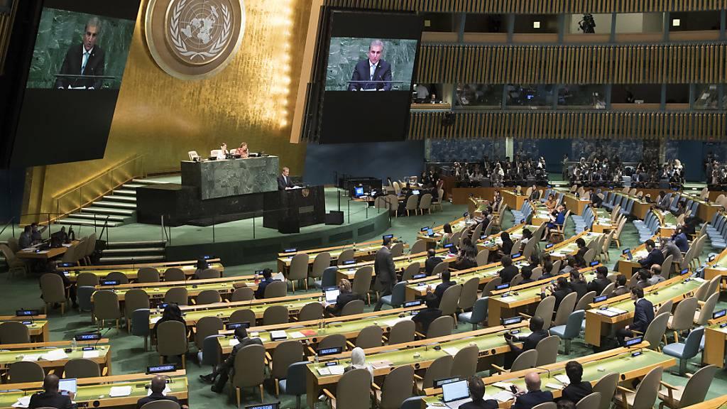 Das jährliche Highlight der Vereinten Nationen, die Uno-Vollversammlung in New York, soll dieses Jahr aufgrund der Coronavirus-Pandemie mit Videoclips und nur einem Vertreter je Land stattfinden. (Archivbild)