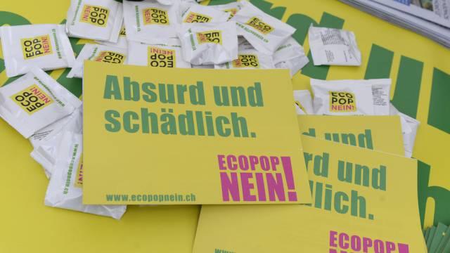 Klares Nein zu Ecopop (Themenbild).