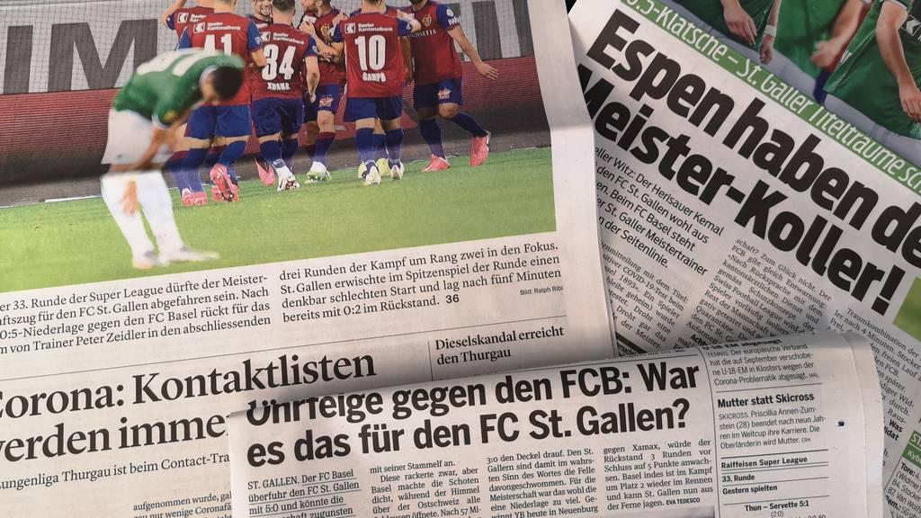 «Rückschlag im Meisterrennen» – Reaktionen auf die FCSG-Niederlage