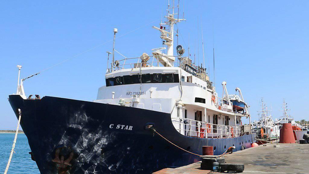 """Die rechtsextremen Aktivisten haben ihren Mittelmeer-Einsatz mit dem gecharterten Schiff """"C-Star"""" beendet."""