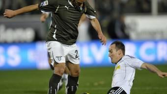 Cesena mit Steve von Bergen (unten) setzte sich gegen Lazio durch