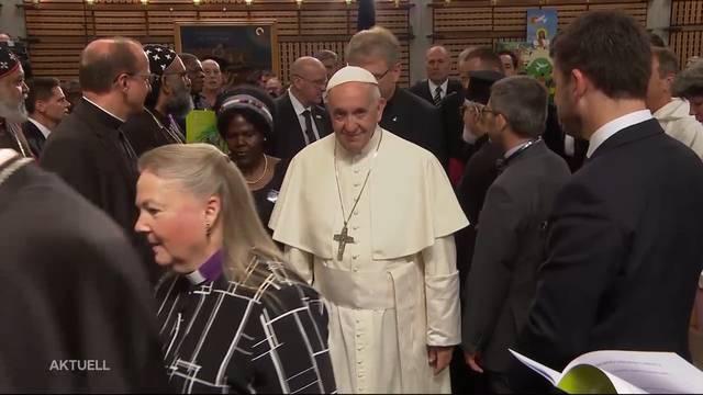 Papst nach 14 Jahren wieder in der Schweiz